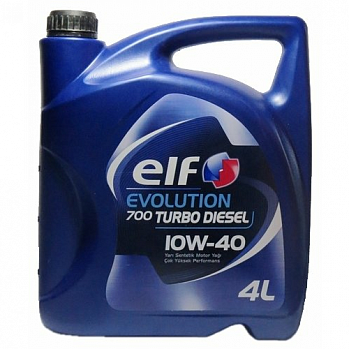 ELF EVOLUTION 700 TURBO DIESEL 10W40 масло моторное, п/синт., канистра 4л